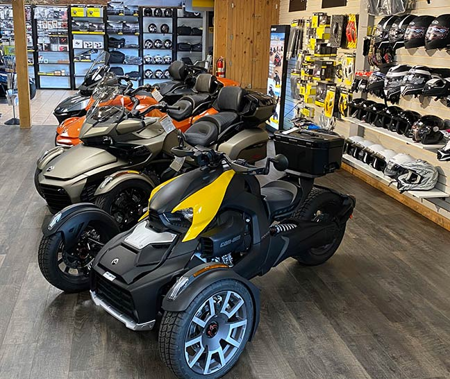Can Am Spyder Motorcycle Showroom hanover pa motosports